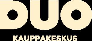 Duo kauppakeskus logo kahvi
