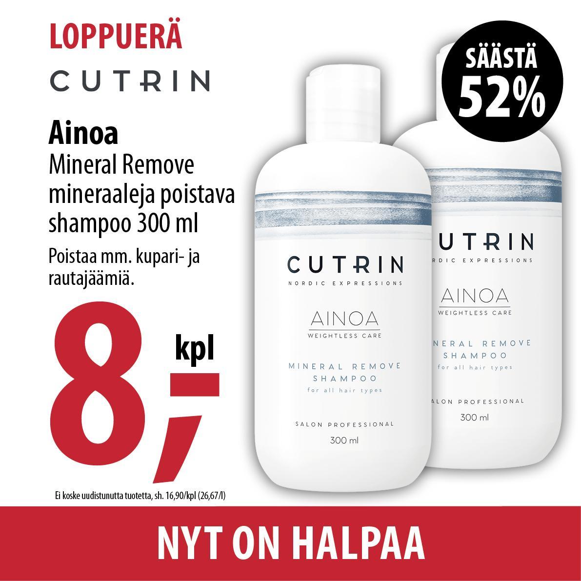 Cutrin Ainoa Mineral Remove 800 420x420